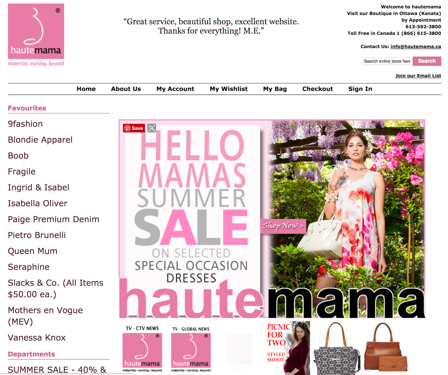 Haute Mama Boutique Maternity and Nursing Store