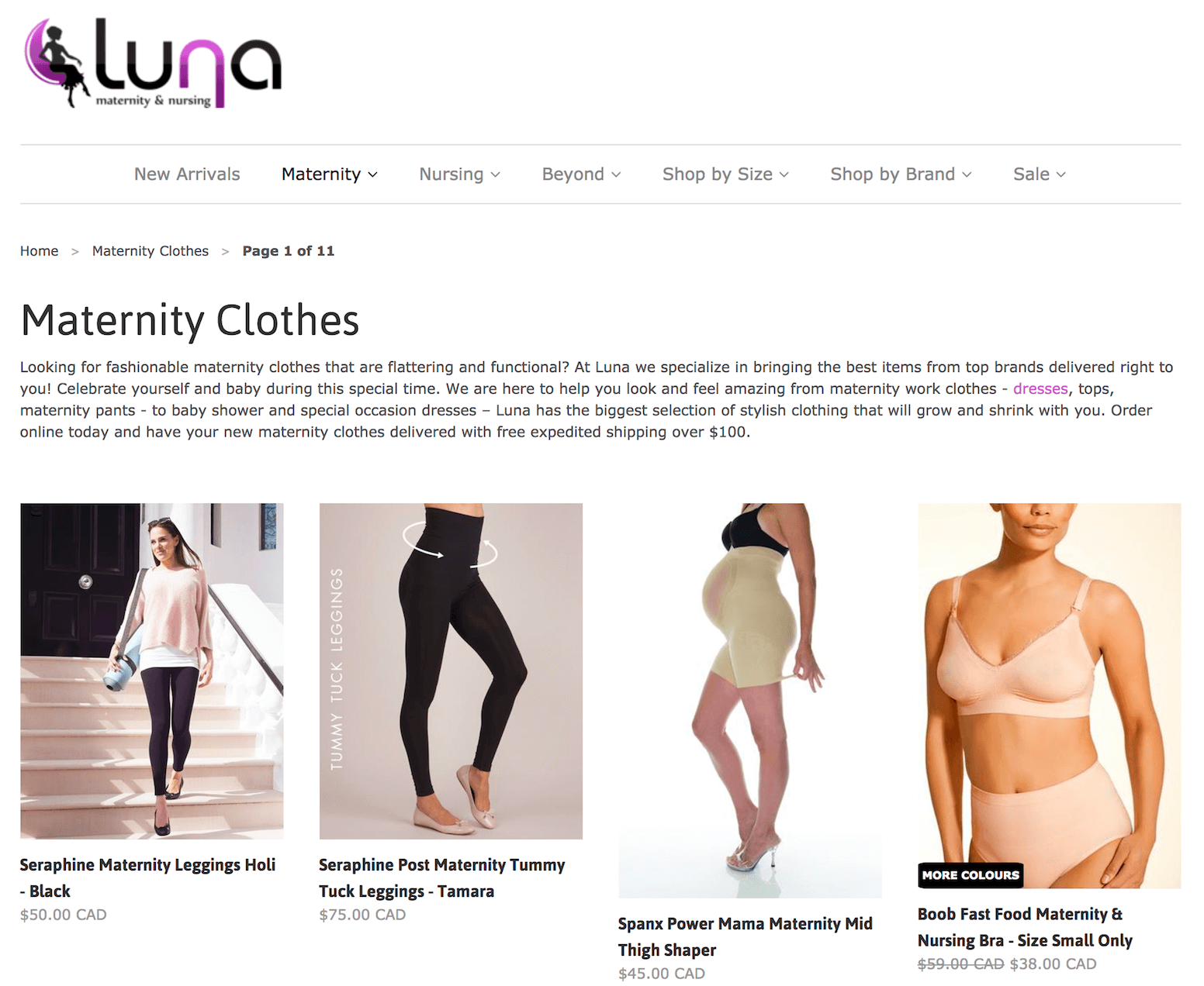 Luna Maternity and Nursing Boutique Store