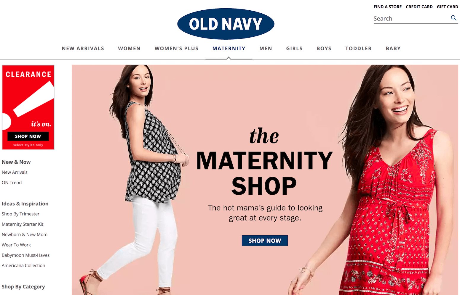 Old Navy Big Box Maternity Clothing Store