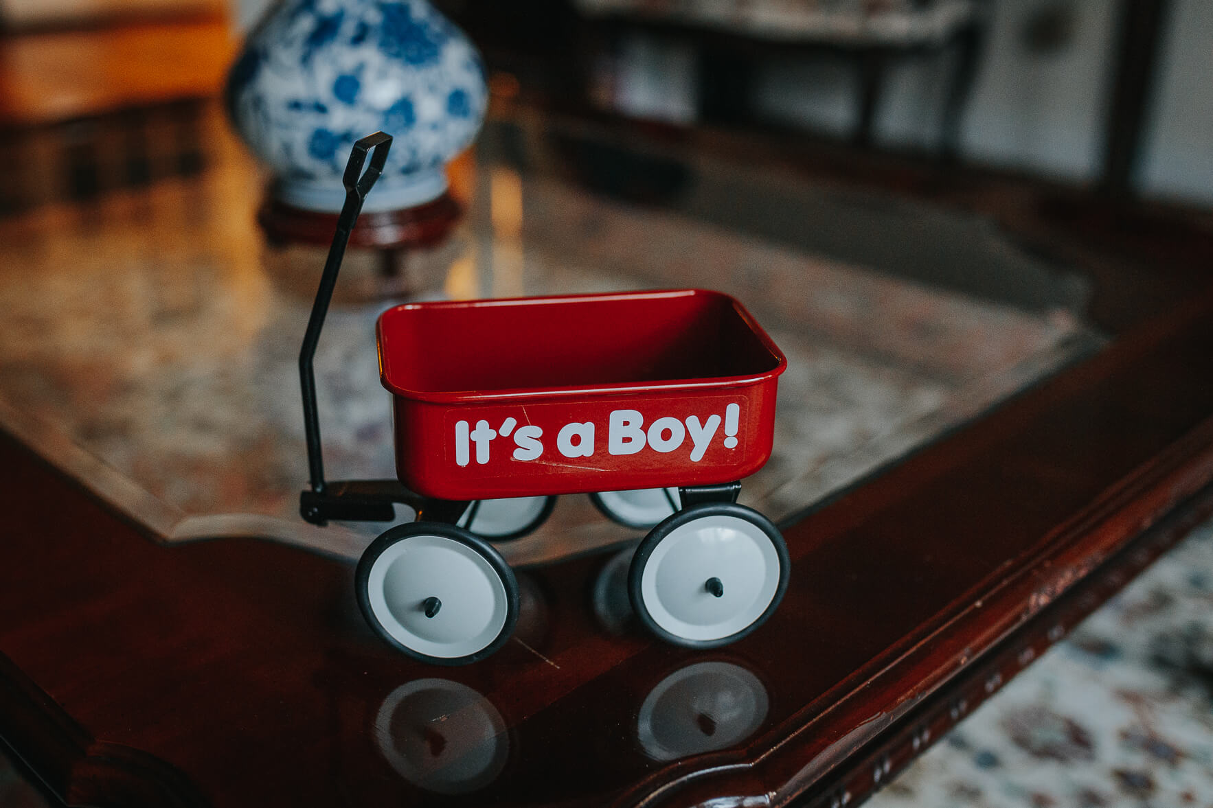 "An ""It's a Boy!"" toy"